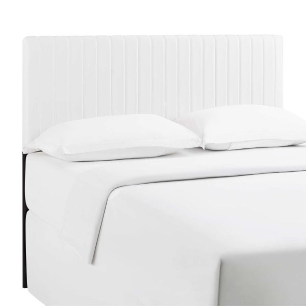Keira Full/Queen Faux Leather Headboard White
