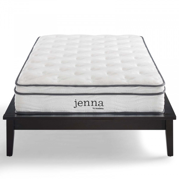 "MOD-6132-WHI Jenna 8"" Narrow Twin Innerspring Mattress White"