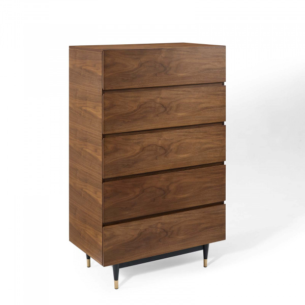 MOD-6190-WAL Caima Wood Chest Walnut