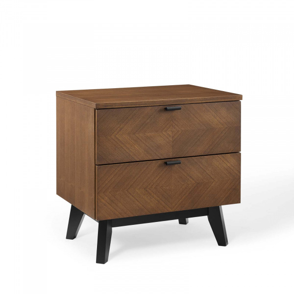 MOD-6193-WAL Kali Wood Nightstand Walnut