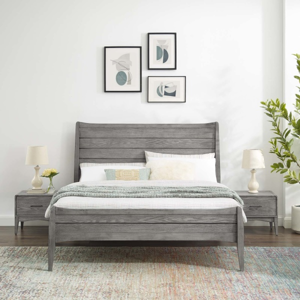 MOD-6716-GRY-SET Georgia 3 Piece Twin Bedroom Set Gray
