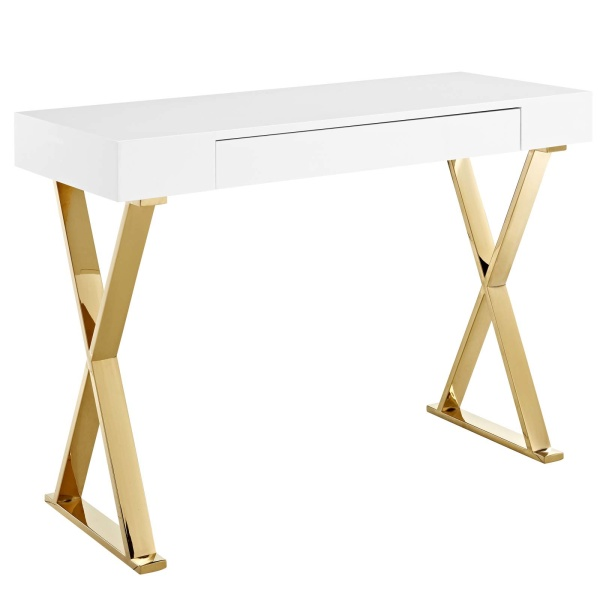 EEI-3032-WHI Sector Console Table