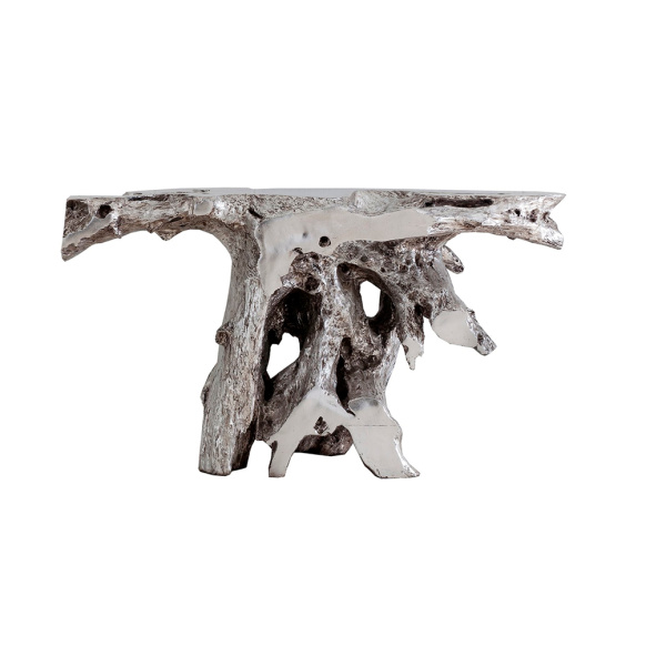 PH64352 Brivo Freeform Console Table, Silver Leaf