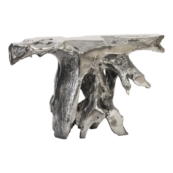 PH95580 Brivo Freeform Console Table, Liquid Silver