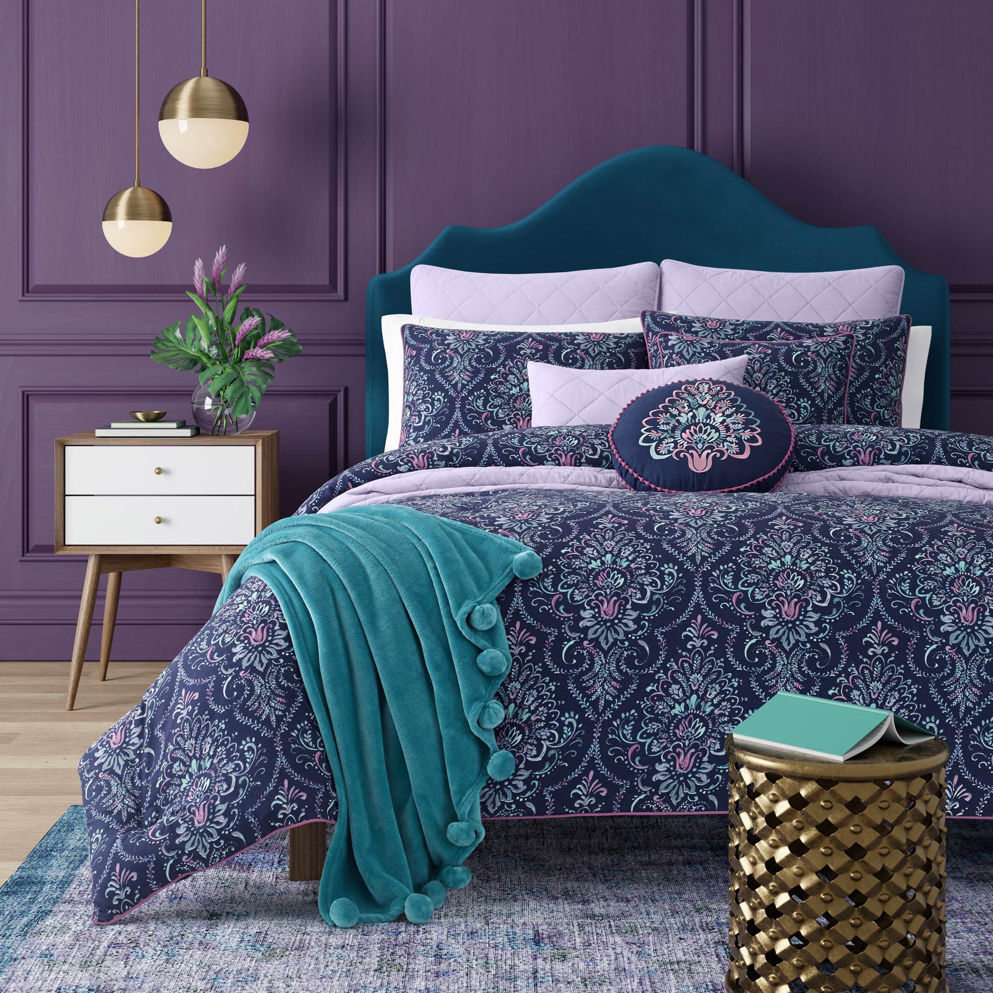 Kayani Indigo Twin 3 Piece Comforter Mini Set