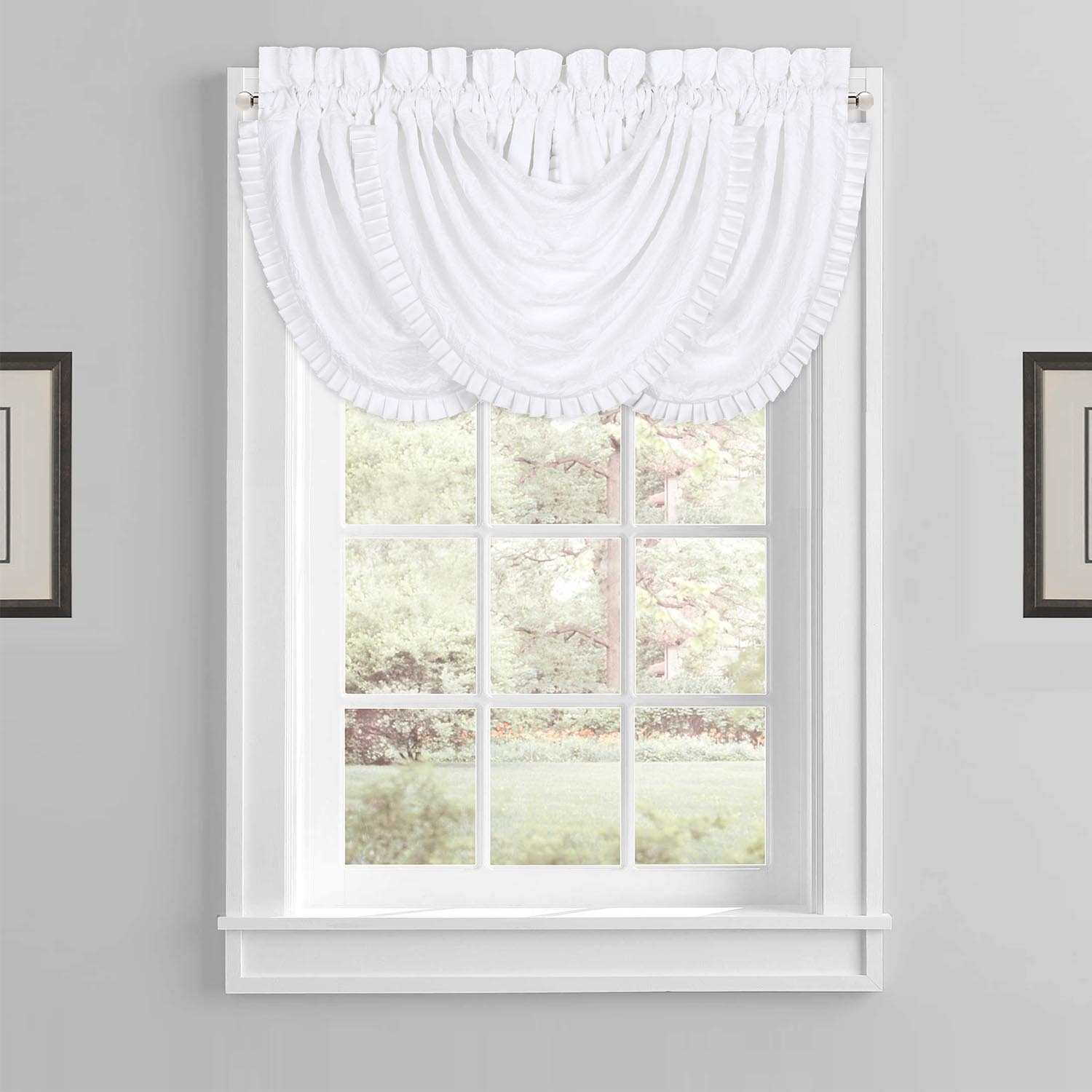 White Waterfall Valance