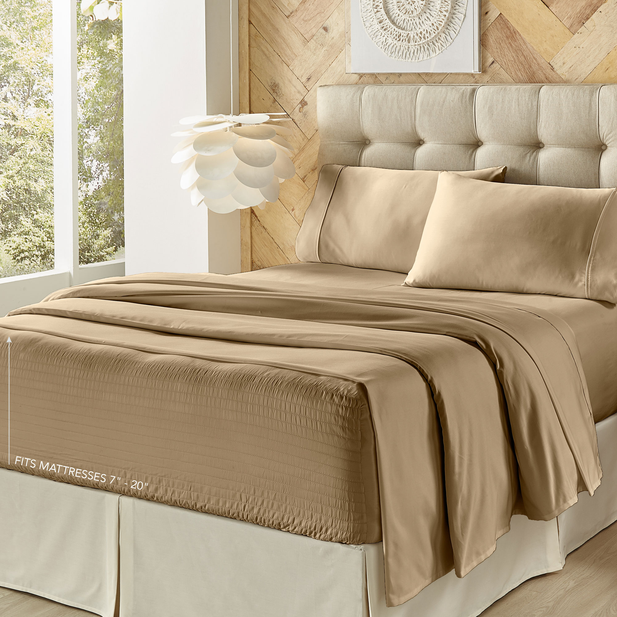 Royal Fit 500 Tc Cvc Tan Full Sheet Set