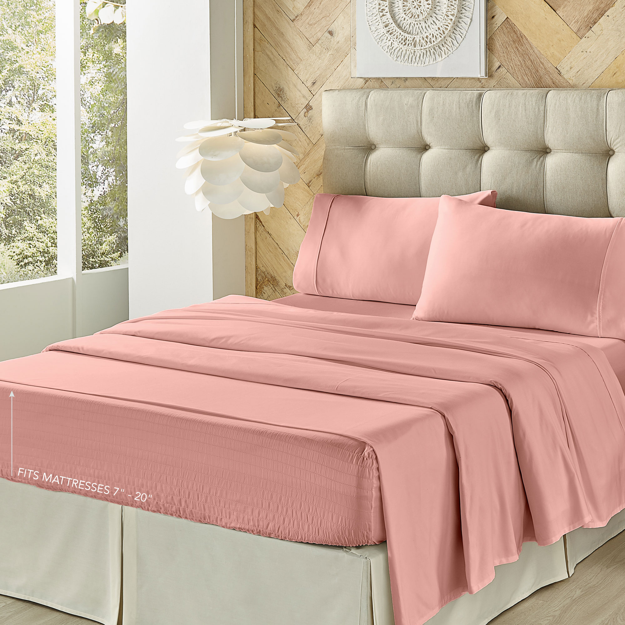 Royal Fit 300 Tc Ash Rose King Sheet Set