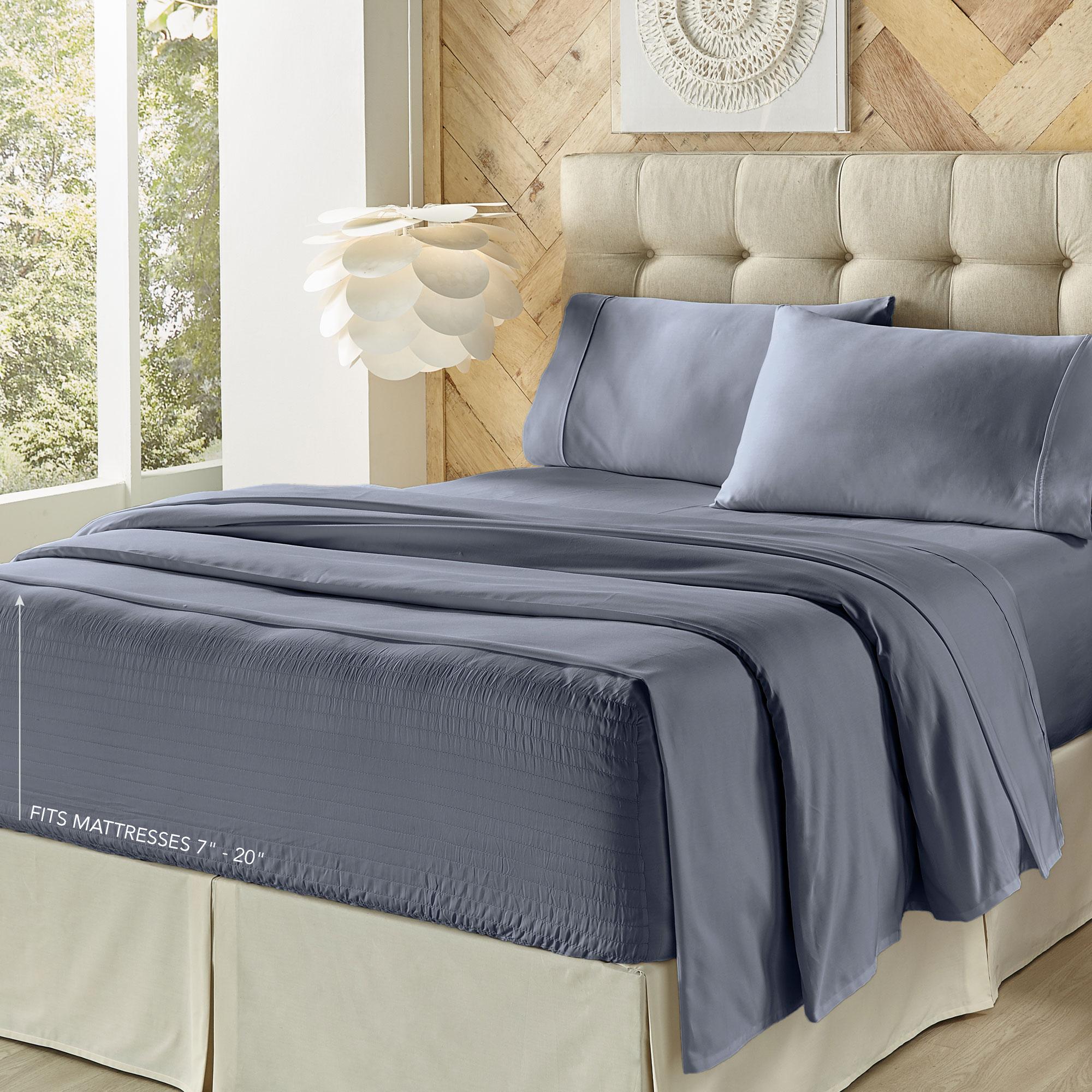 Royal Fit Dark Blue Queen Sheet Set