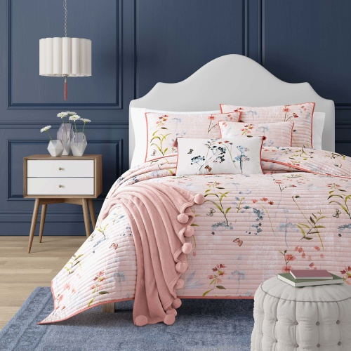 Beatrice Coverlet Rose Twin 1-Piece Comforter