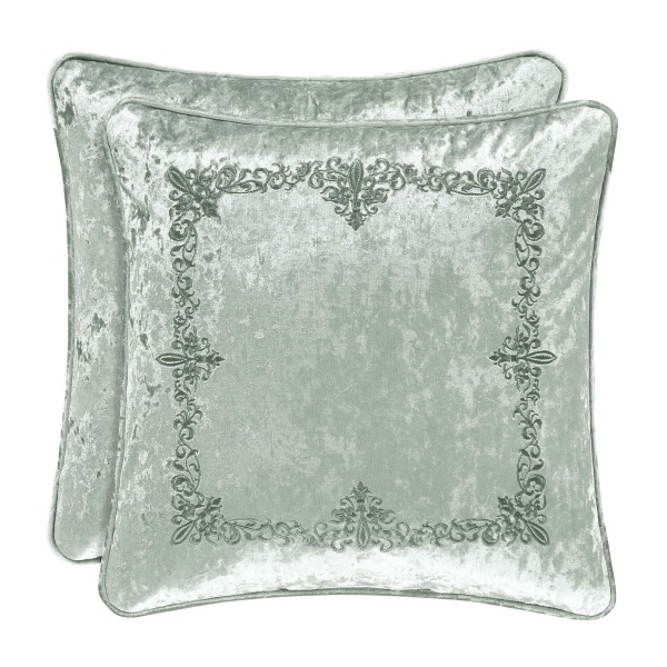 "Dream Spa 18"" Square Embellished Pillow"