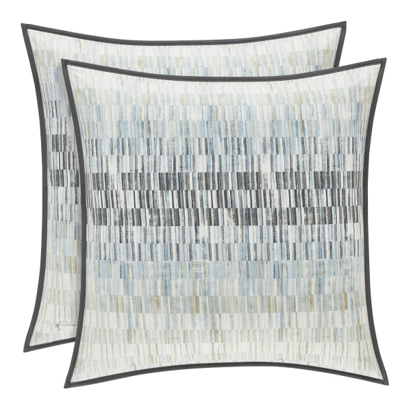"Flatiron Teal 20"" Square Dec Pillow"
