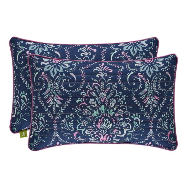 Kayani Indigo Quilted Boudoir Pillow