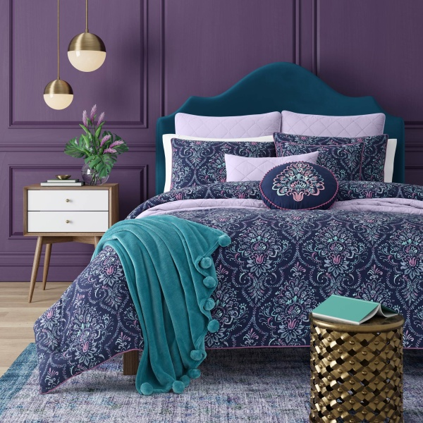 Kayani Indigo Twin 3-Piece Comforter Mini Set
