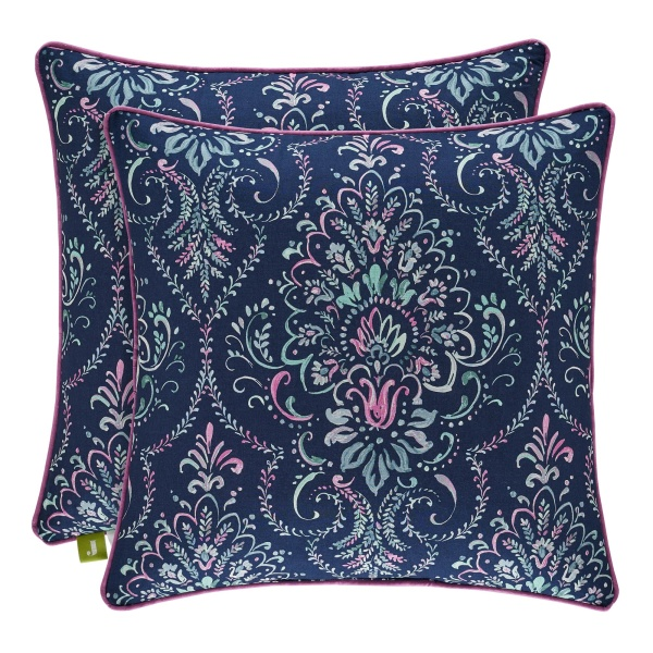 "Kayani Indigo 18"" Square Pillow"
