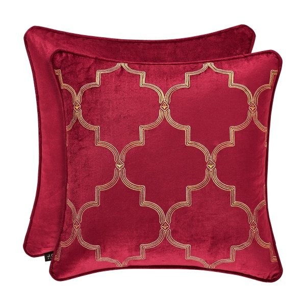"Maribella 18"" Square Embroidered Pillow"