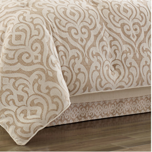 Milano Sand Queen 4 Piece Comforter Set Zoom