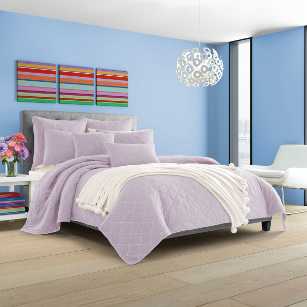 Oakland Lilac Twin Coverlet