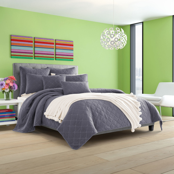Oakland Indigo Twin Coverlet