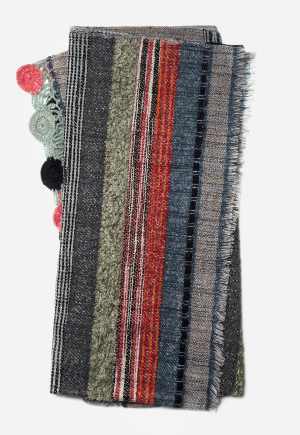Posy Throw T0038 Grey Multi