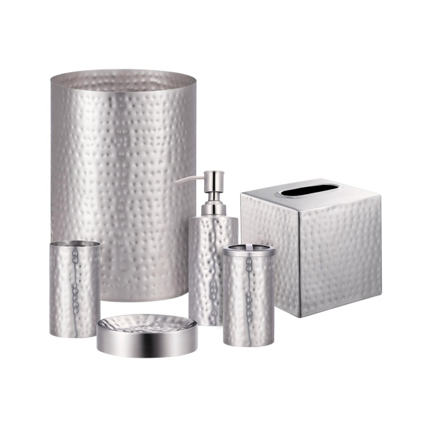 Pressed Metal Silver Bath Collection