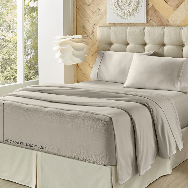 Royal Fit 500 tc Silver Queen Sheet Set