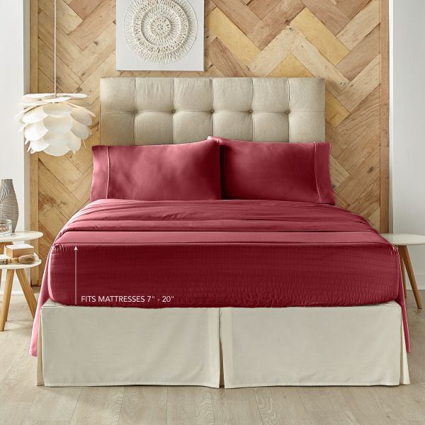 Royal Fit Burgundy Sheet Set 1