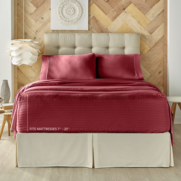 Royal Fit Burgundy Sheet Set