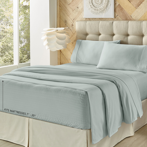Royal Fit Light Blue King Sheet Set