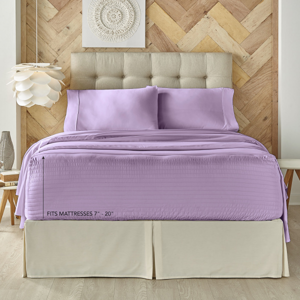 Royal Fit Microfiber Lilac Sheet Set