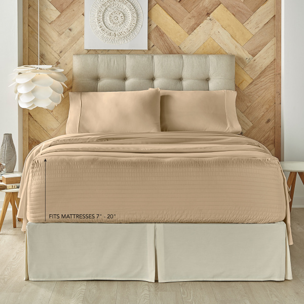 Royal Fit Taupe Twin Sheet Set