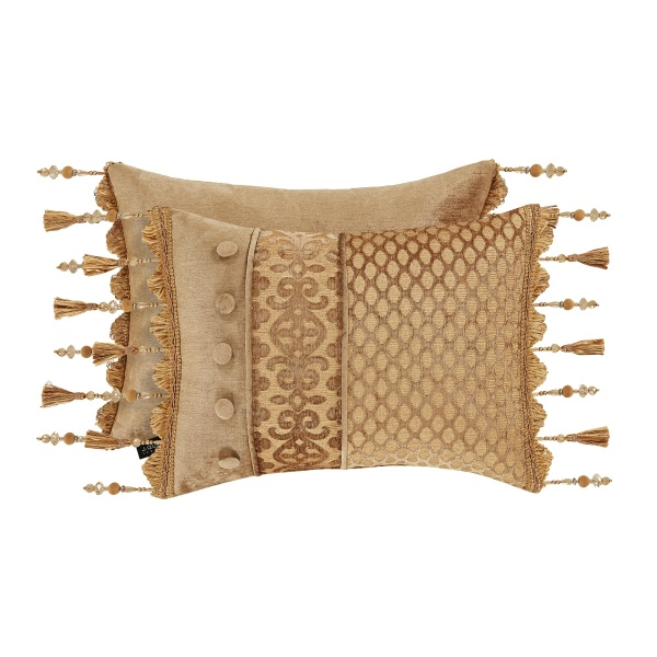 Sicily Gold Boudoir Pillow