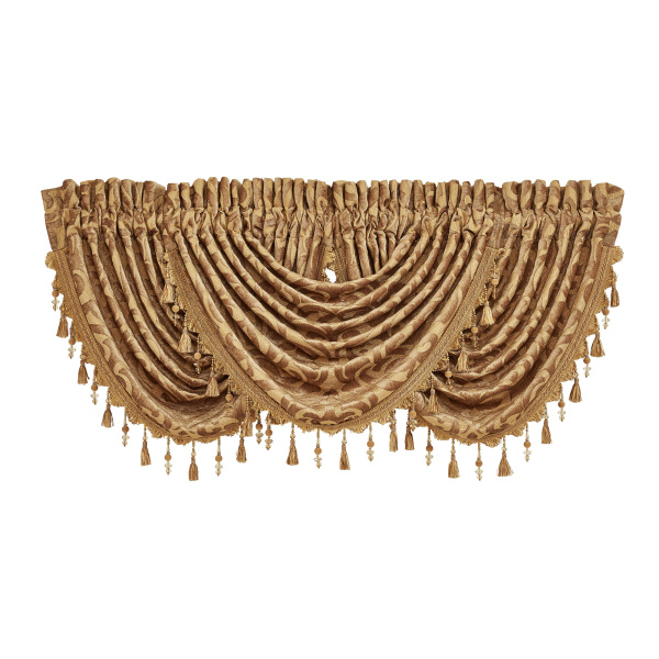 Sicily Gold Waterfall Valance