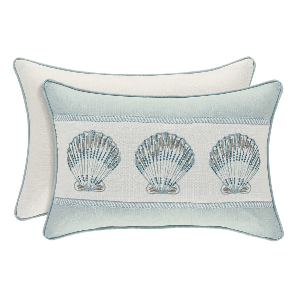 Water's Edge Aqua Boudoir Pillow