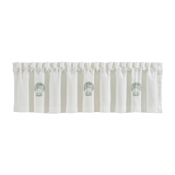 Water's Edge Aqua Straight Valance
