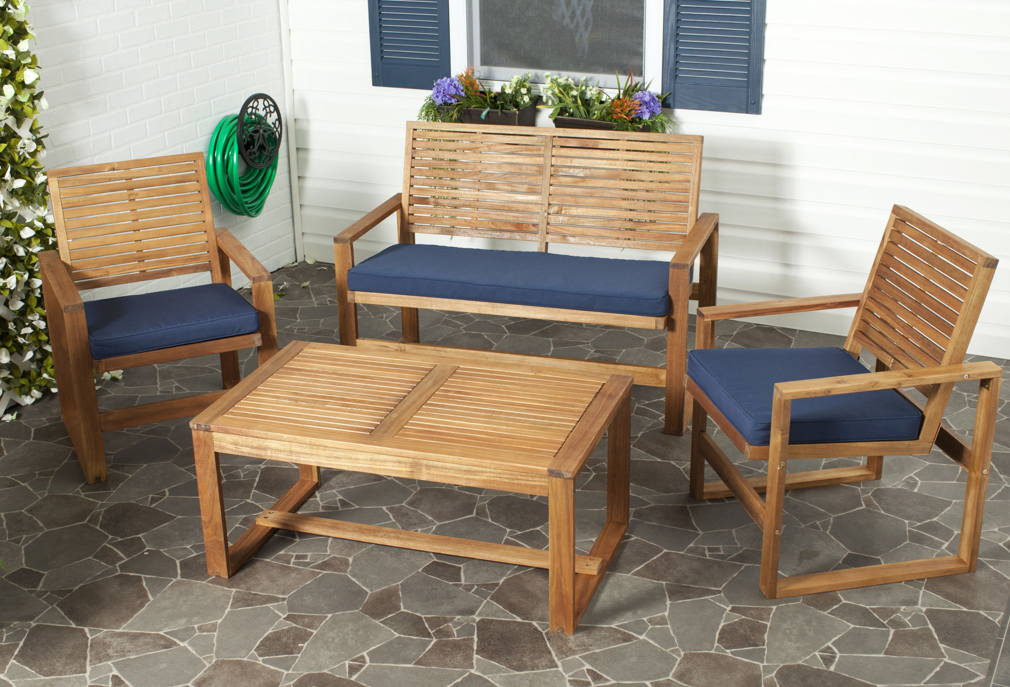 Ozark 4 Pc Outdoor Living Set on Outdoor Living Room Set id=69702