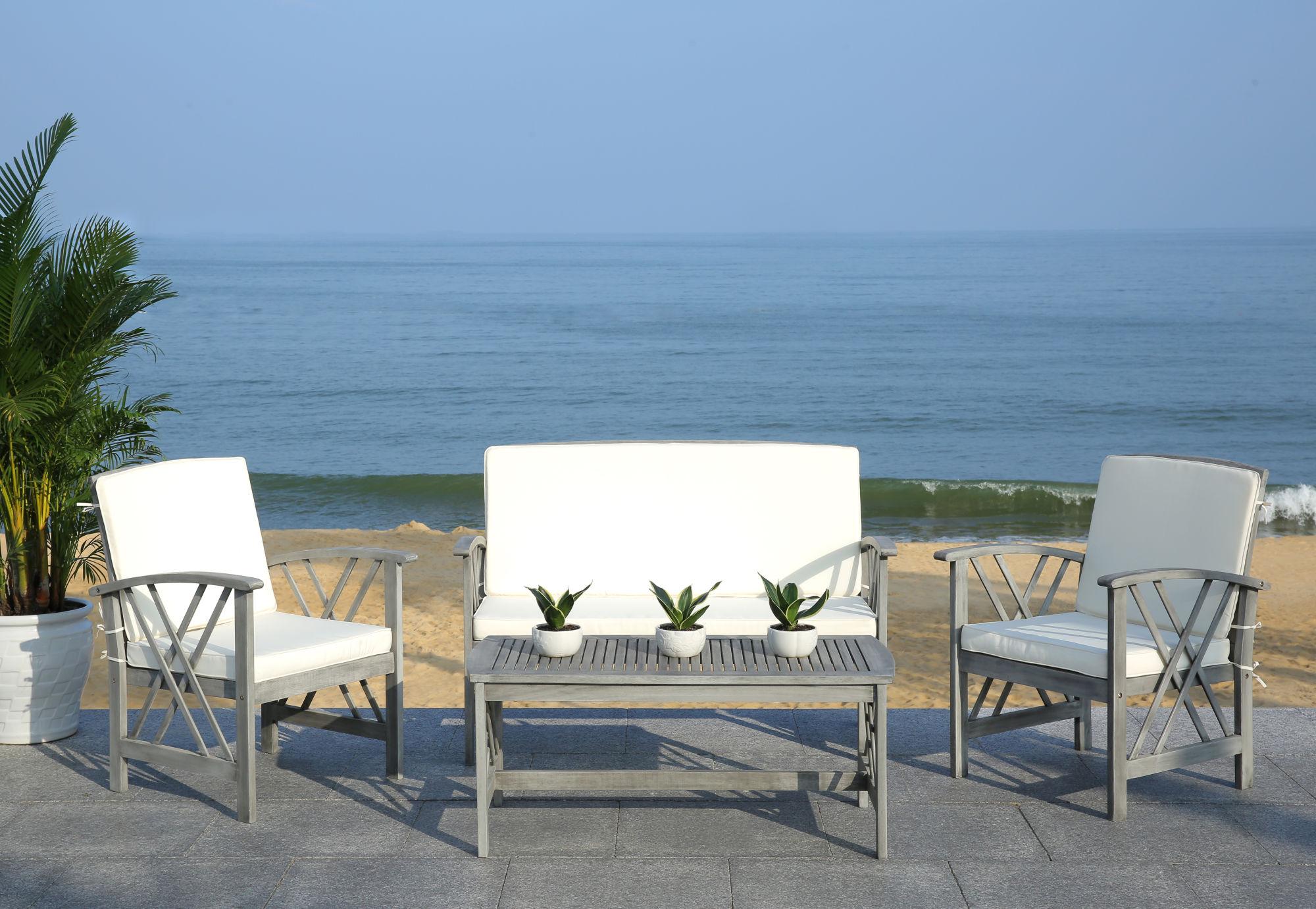 Fontana 4 Pc Outdoor Set on Safavieh Outdoor Living Fontana id=91989