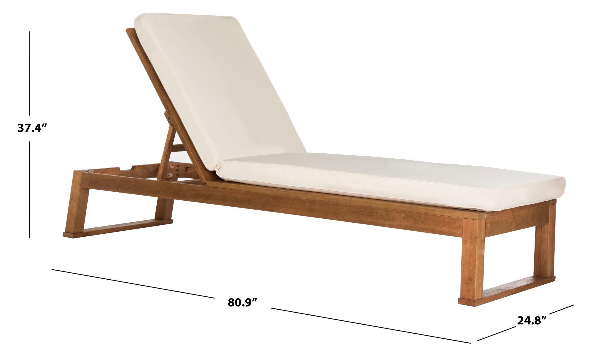 Solano Sunlounger on Safavieh Outdoor Living Solano Sunlounger id=51034
