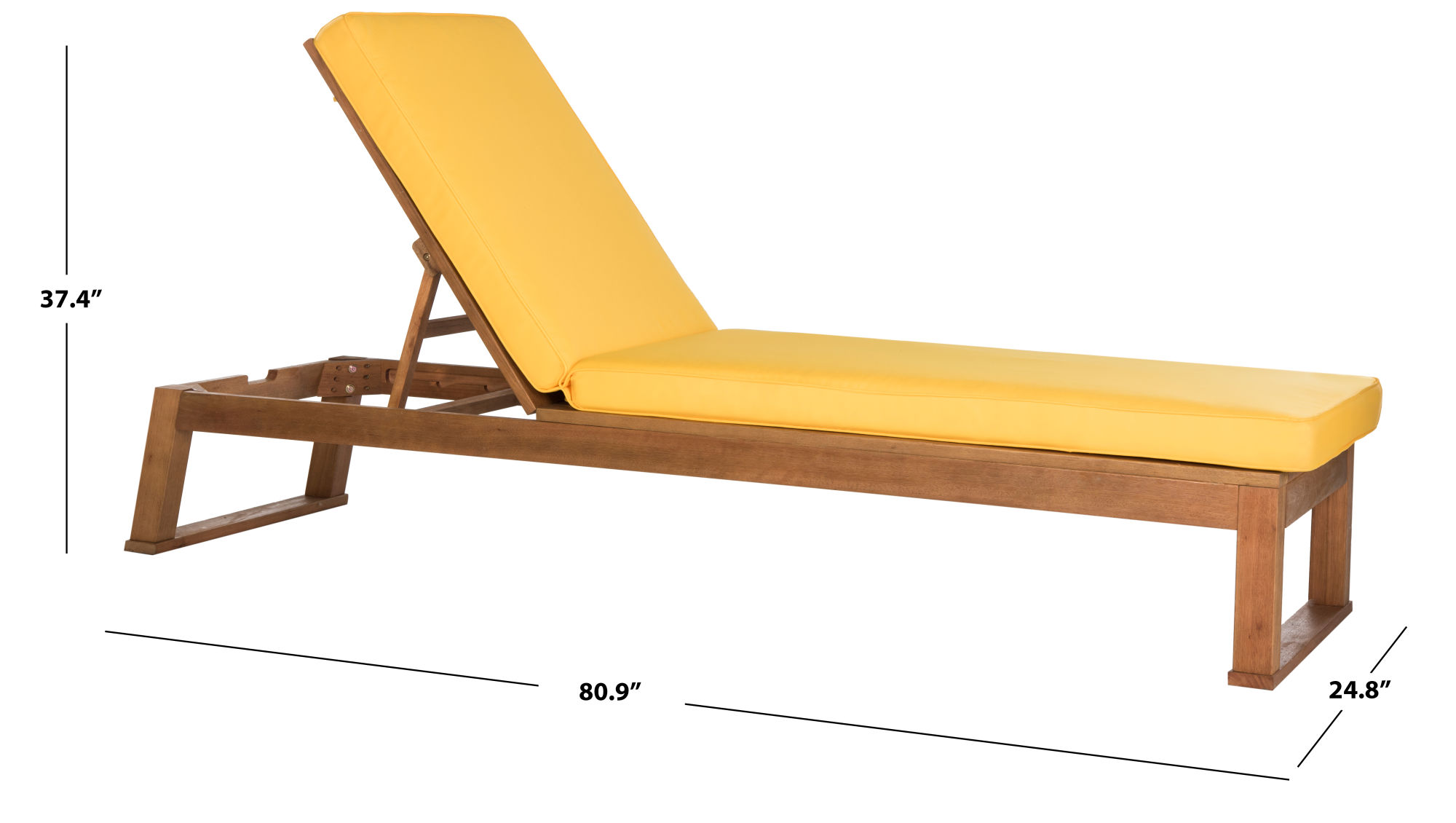 Solano Sunlounger on Safavieh Outdoor Living Solano Sunlounger id=53946