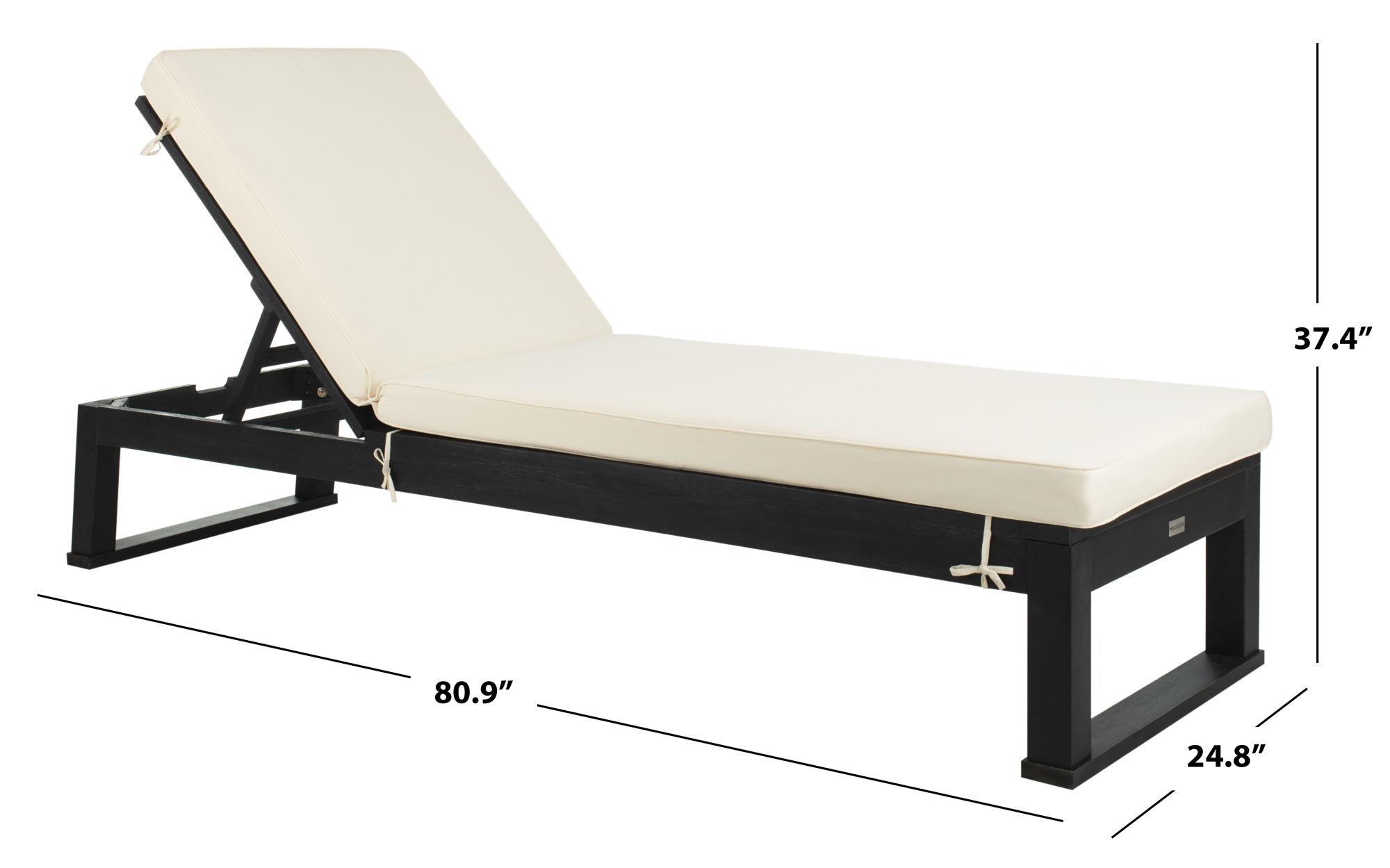 Solano Sunlounger on Safavieh Outdoor Living Solano Sunlounger id=25786