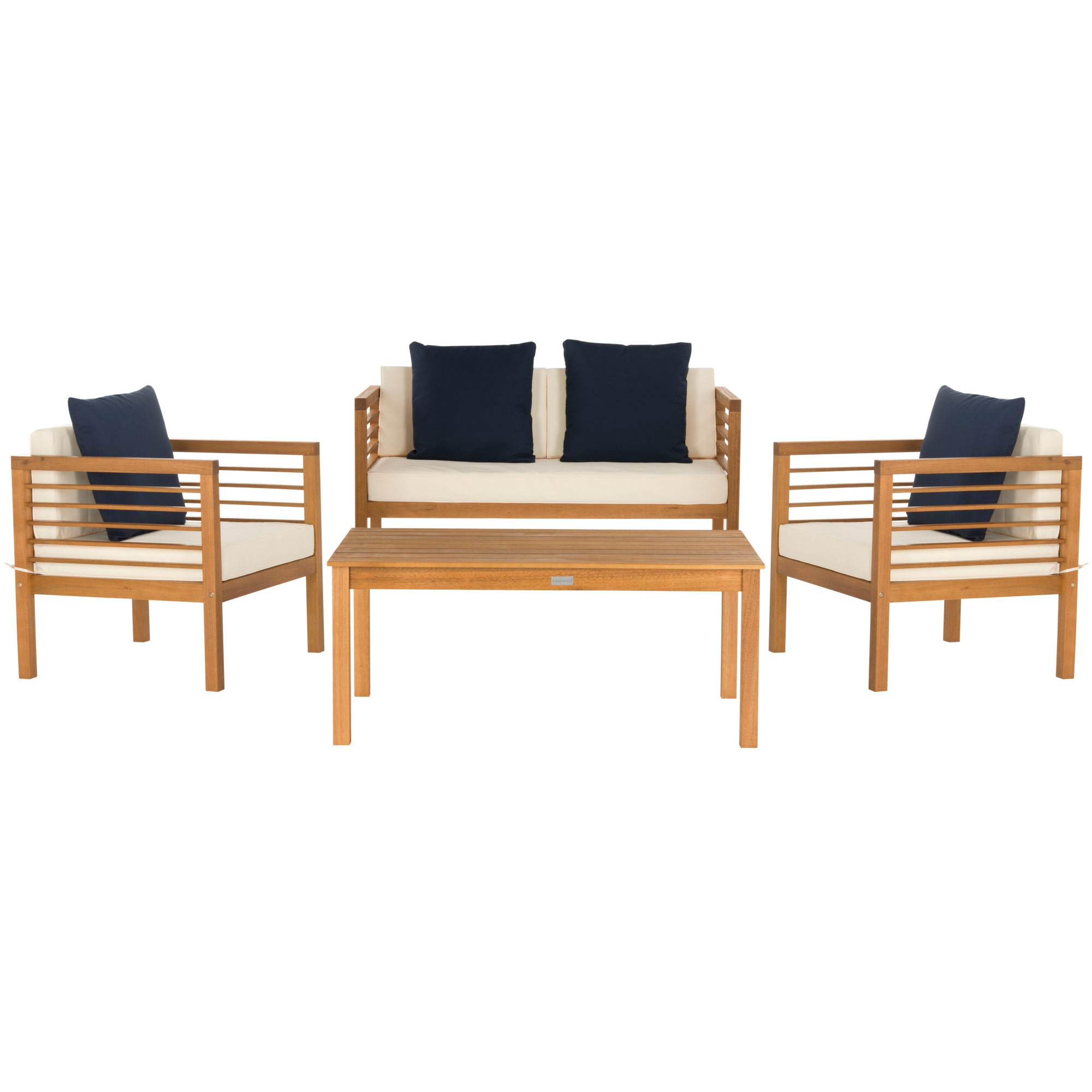 Alda 4 Pc Outdoor Set With Accent Pillows on Safavieh Alda 4Pc Outdoor Set id=34477