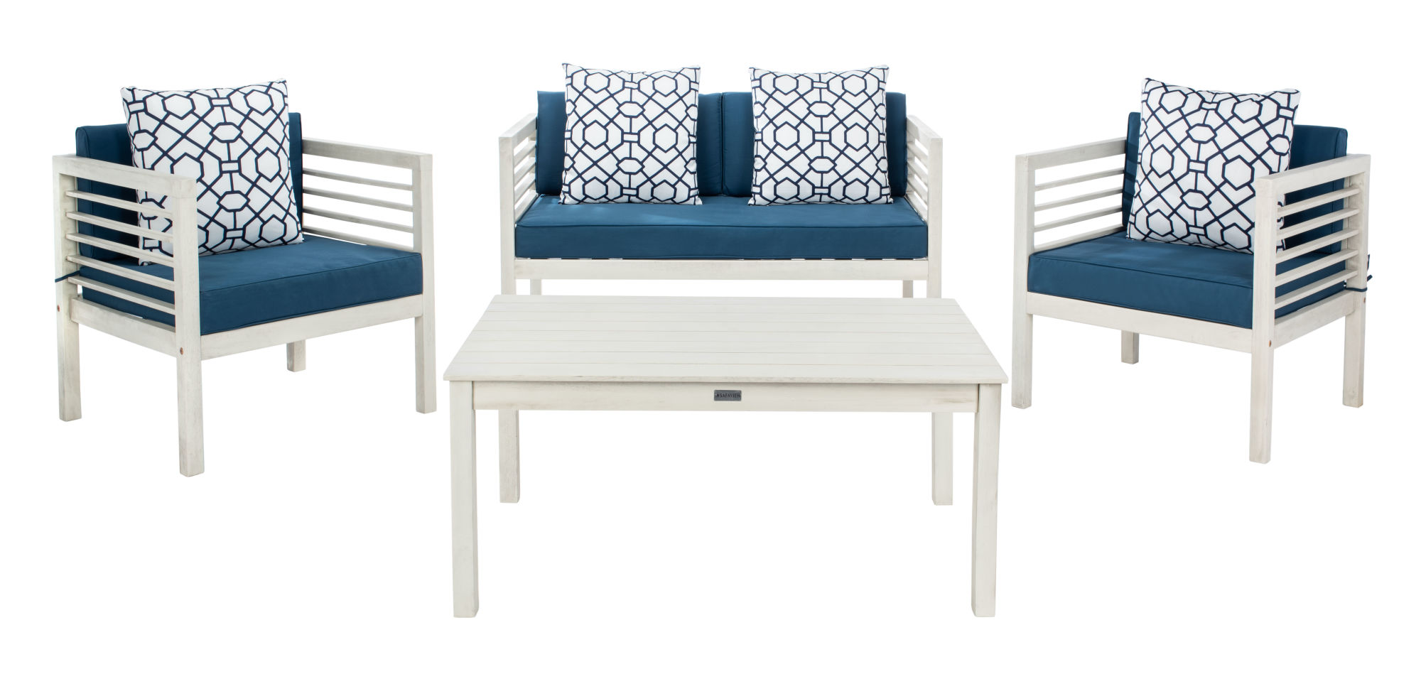 Alda 4 Pc Outdoor Set With Accent Pillows on Safavieh Alda 4Pc Outdoor Set id=55077