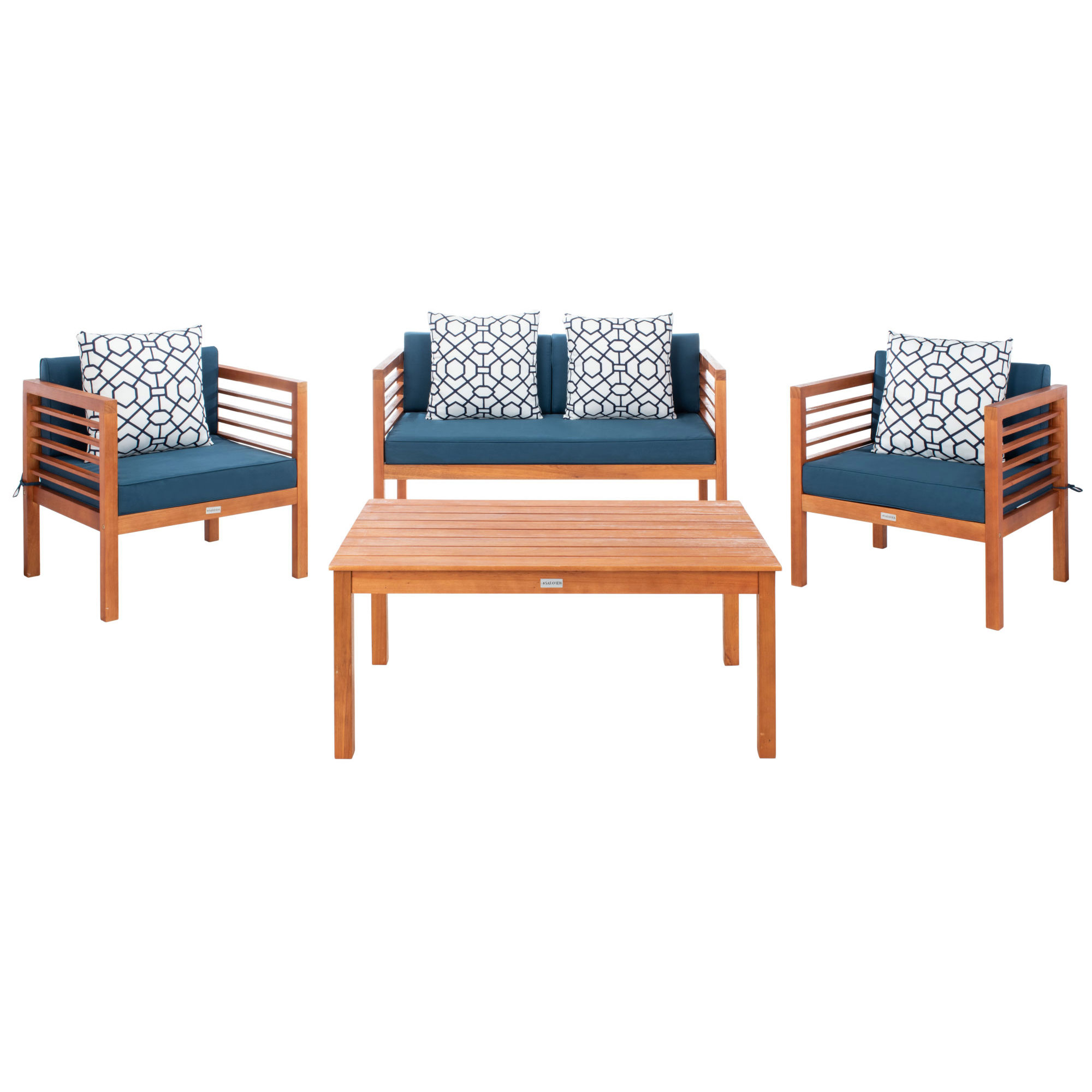Alda 4 Pc Outdoor Set With Accent Pillows on Safavieh Alda 4Pc Outdoor Set id=51622