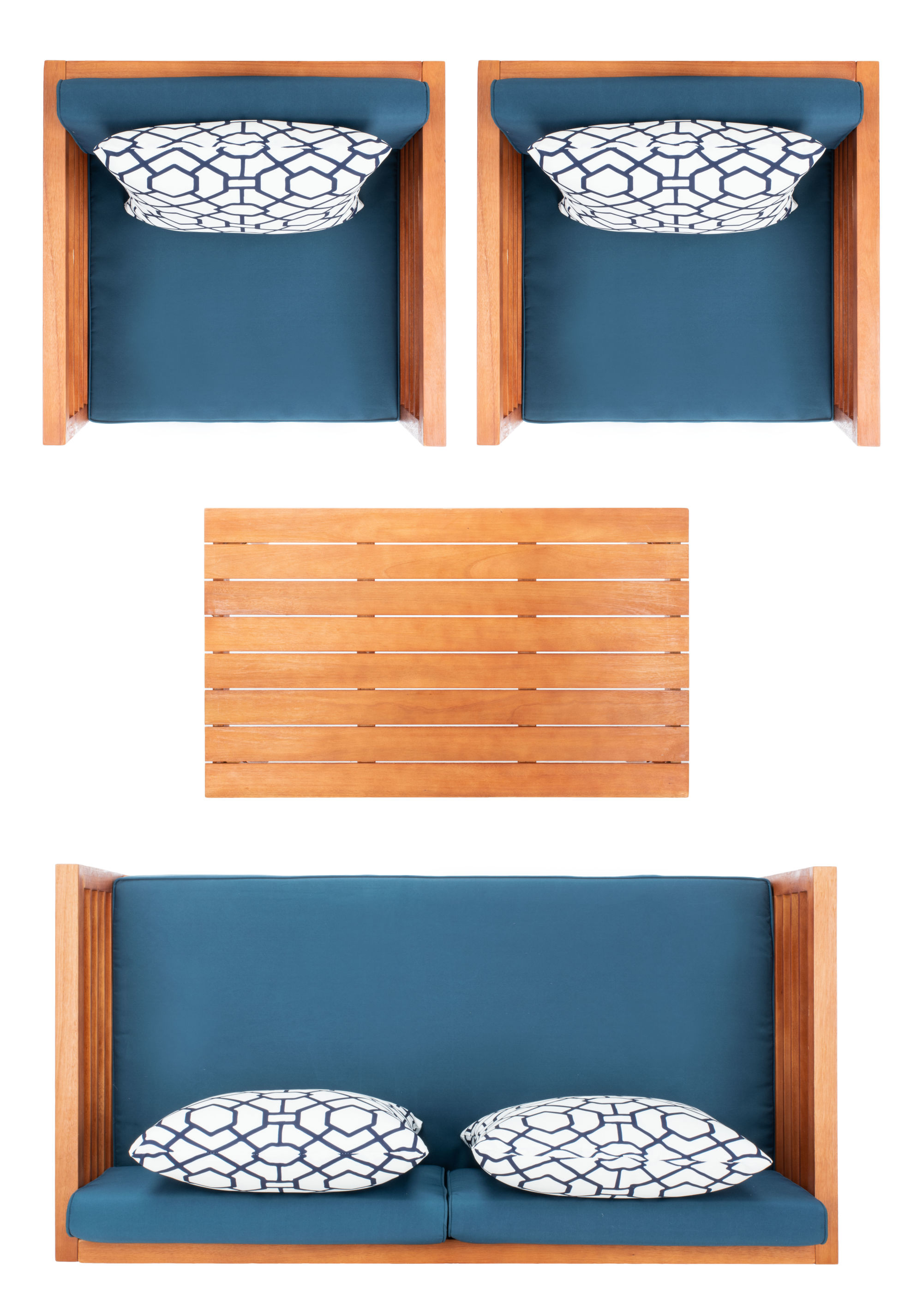 Alda 4 Pc Outdoor Set With Accent Pillows on Safavieh Alda 4Pc Outdoor Set id=95210