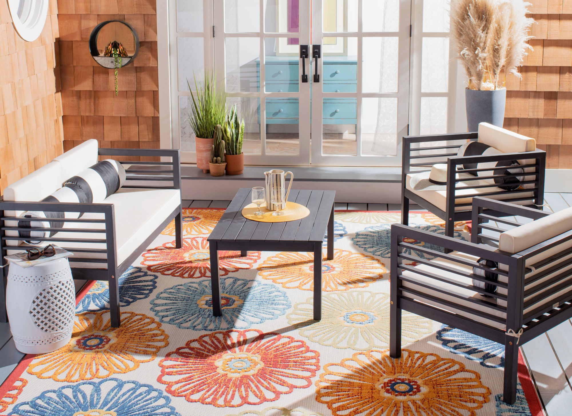 Alda 4 Pc Outdoor Set With Accent Pillows on Safavieh Alda 4Pc Outdoor Set id=29825