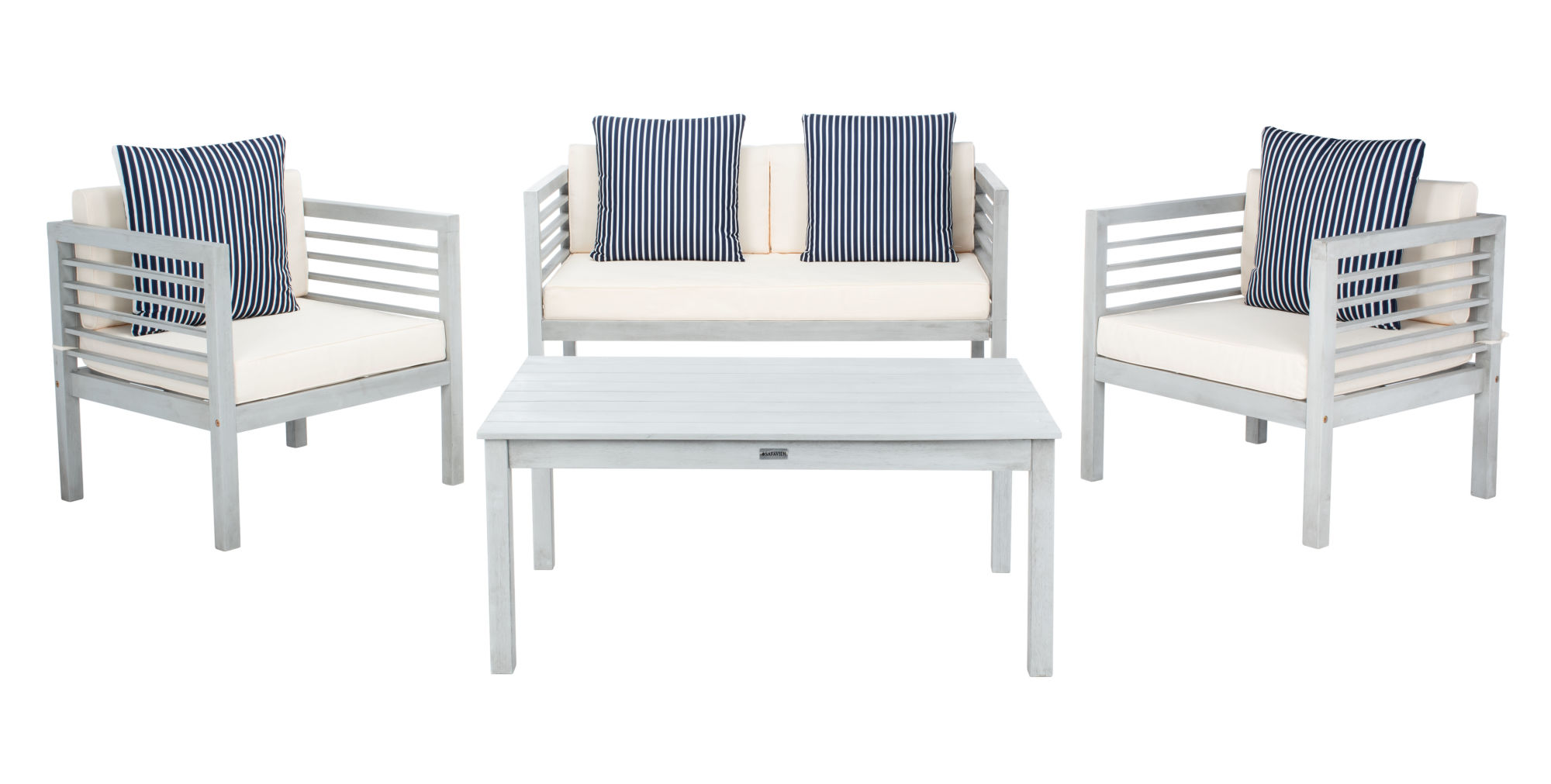 Alda 4 Pc Outdoor Set With Accent Pillows on Safavieh Alda 4Pc Outdoor Set id=47028