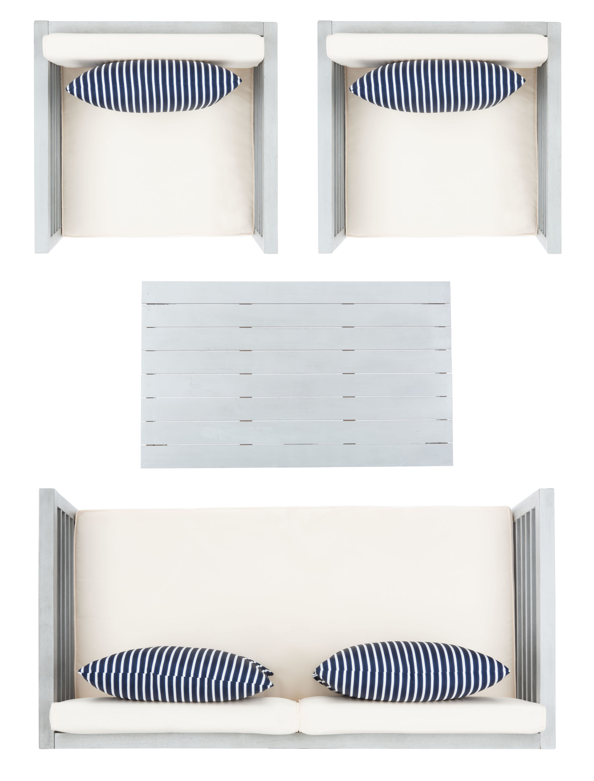 Alda 4 Pc Outdoor Set With Accent Pillows on Safavieh Alda 4Pc Outdoor Set id=82954