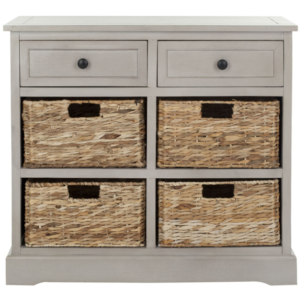 AMH5702A Herman Storage Unit with Wicker Baskets