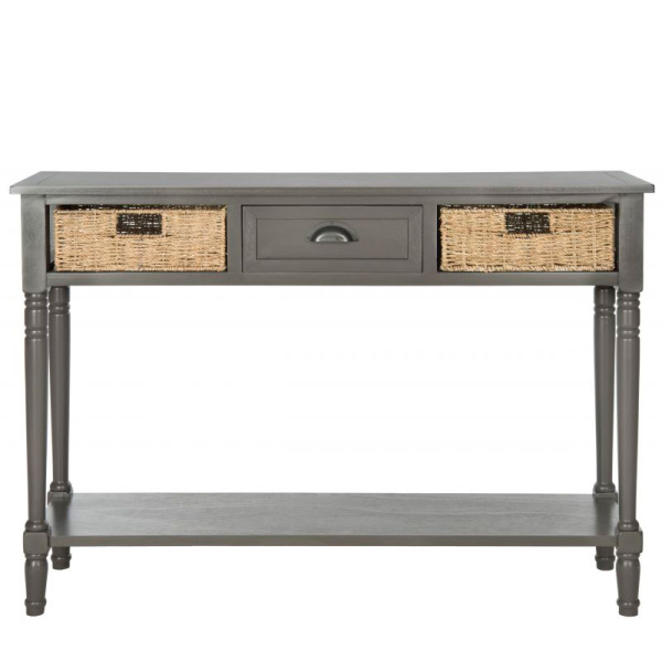 AMH5730A Winifred Wicker Console Table With Storage