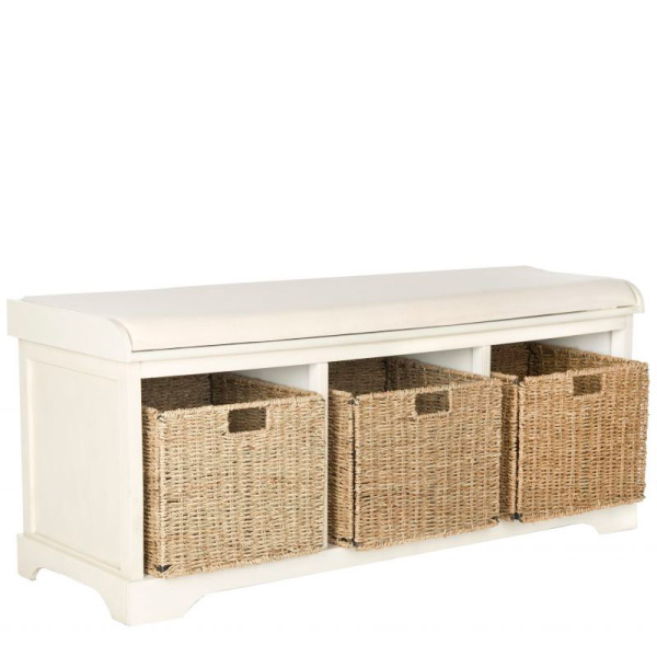 Lonan  Wicker Storage Bench